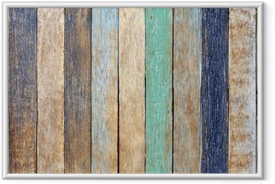 Poster en cadre Planche en bois coloré - Thèmes