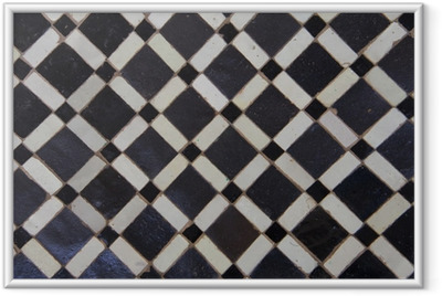 Innrammet plakat Marokkansk Zellige Tile Pattern