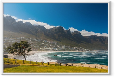 Gerahmtes Poster Strand in Kapstadt, Südafrika