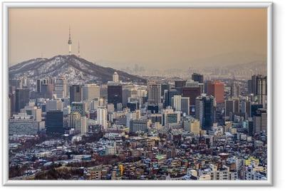 Poster i Ram Söul, Sydkorea Skyline
