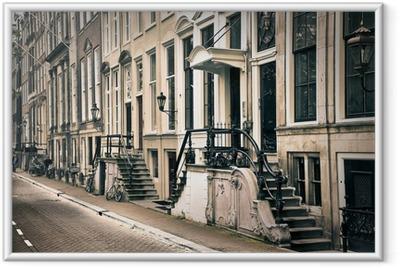 Gerahmtes Poster Perspektive der alten amsterdam