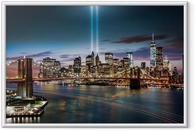Innrammet plakat Tribute in Light memorial 11. september 2014