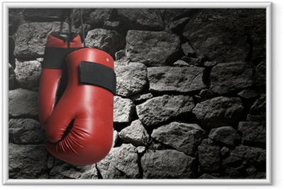 Gerahmtes Poster Boxhandschuhe