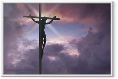 Poster en cadre Jésus-Christ sur la croix