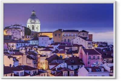 Lisbon, Portugal Skyline at Alfama Framed Poster