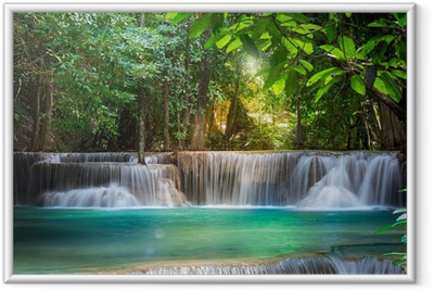 Poster in Cornice Thailandia cascata a Kanchanaburi (Huay Mae Prima)