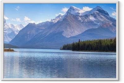 Innrammet plakat Maligne Lake
