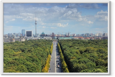 Poster en cadre Skyline de Berlin avec le parc Tiergarten - Berlin