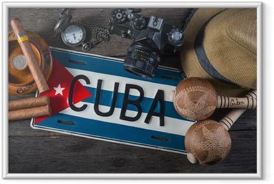 Poster i Ram Resa till Kuba, vintage overhead