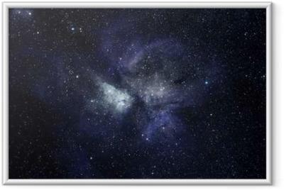 Poster en cadre Bleu fond de l'espace - Science
