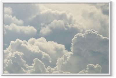 Póster Enmarcado Hermoso cielo azul y nubes