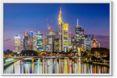 Gerahmtes Poster Frankfurt skyline