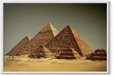 Pyramider - Gizeh / Egypten Indrammet plakat