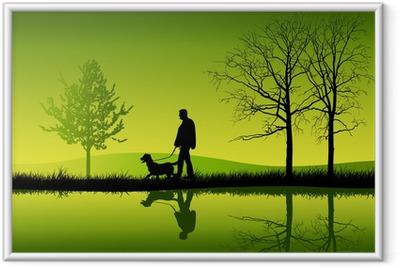 Poster en cadre Promener le chien