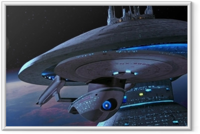 Ingelijste Poster Ship from Star Trek