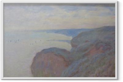 Poster i Ram Claude Monet - Klippan nära Dieppe