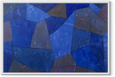 Ingelijste Poster Paul Klee - Felsen in der Nacht
