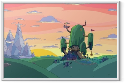 Gerahmtes Poster Adventure Time: Fort