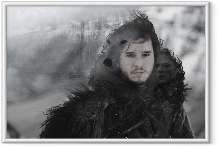 Jon Snow Indrammet plakat -