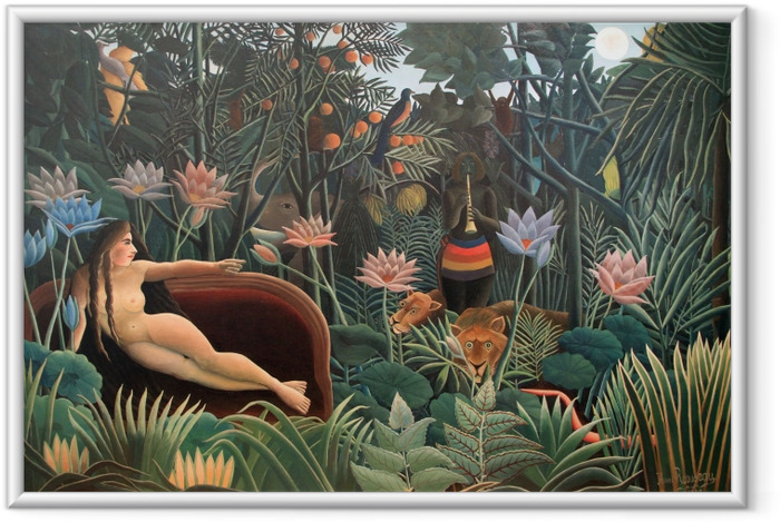 Poster in Cornice Henri Rousseau - La pittura dell'artista sua moglie - Riproduzioni