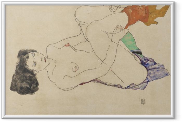 Póster Enmarcado Egon Schiele - Desnuda acostada - Reproducciones