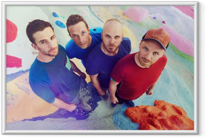Ingelijste Poster Coldplay - Coldplay