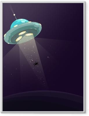 Gerahmtes Poster Man entführte durch UFO