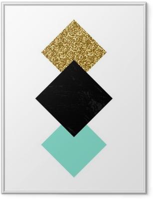 Plakat w ramie Kompozycja abstrakcyjna geometrycznej