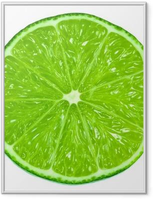 Poster en cadre Vert lime