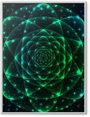 Gerahmtes Poster Heilige Geometrie-Symbol. Mandala Geheimnis Element