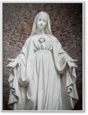 Ingelijste Poster Standbeeld van Onze-Lieve-Vrouw