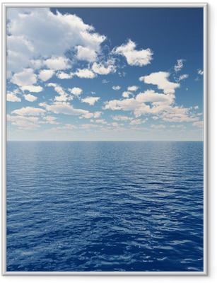 Sea sky Framed Poster