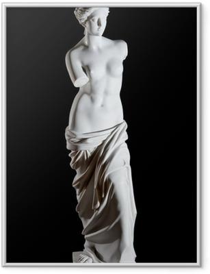 """Gerahmtes Poster Weißer Marmor klassische Statue """"Aphrodite von Milos"""" isoliert"""