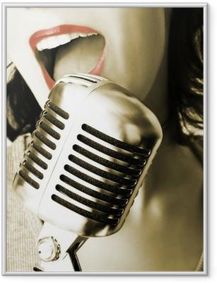 Gerahmtes Poster Retro singer