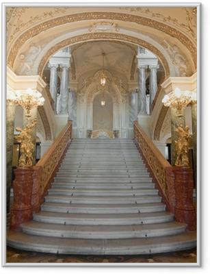 luxury stairway Framed Poster