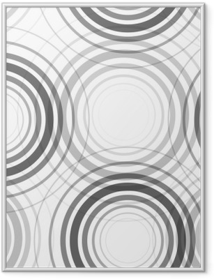Seamless monochrome circles pattern Framed Poster