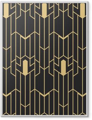 Ingelijste Poster Abstract art deco naadloos patroon