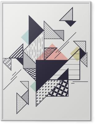 Gerahmtes Poster Abstrakte moderne geometrische Zusammensetzung
