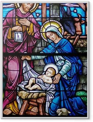 Poster en cadre Veuve du vitrail de la Nativité - Thèmes