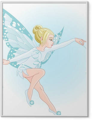 Tooth fairy with magic wand Framed Poster