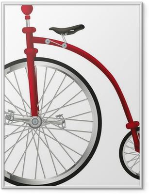 Ingelijste Poster Circus oude fiets