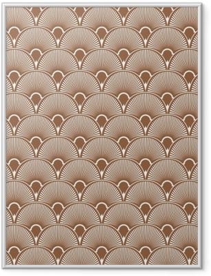 Gerahmtes Poster Nahtloser Musterhintergrund des Art Deco. Vektor