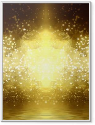 Gerahmtes Poster Gold-Glitter