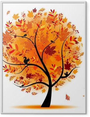 Beautiful autumn tree for your design Framed Poster