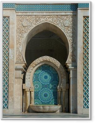 Ingelijste Poster Hassan II Moskee, Casablanca, Marokko
