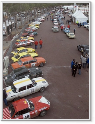 Póster Enmarcado Clásico Rally de Montecarlo