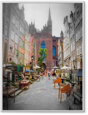 Poster i Ram Historiska staden Gdansk