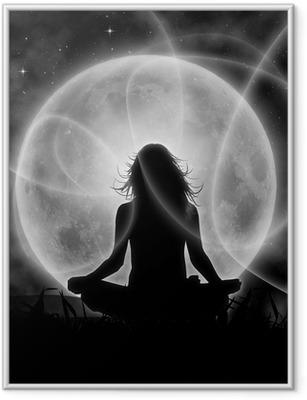 Poster en cadre Lune méditation - Ciel