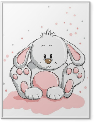 Gerahmtes Poster Cute rabbit