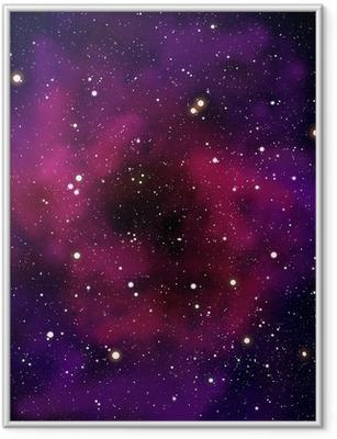 Nebula ja tähti avaruudessa Kehystetty juliste
